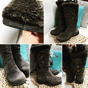 BASS Leather Boots Sz 7M STYLE:DENVER Faux fur